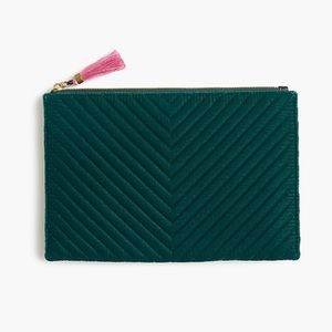 large pouch in quilted velvet